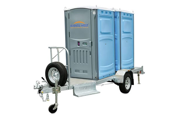 4 Dual Trailer Portaloo - Trailer Mounted with Step Front & Rear